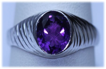 22.00 CTW AMETHYST RING .925 STERLING SILVER