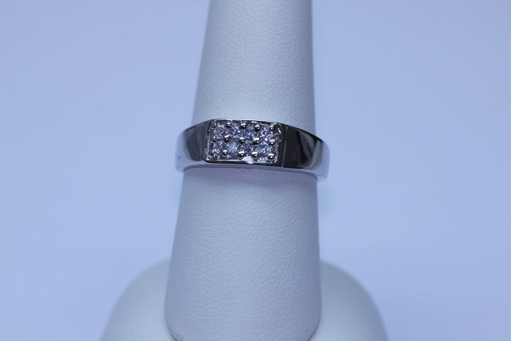 14.35 CTW CZ RING .925 STERLING SILVER