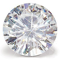 GIA CERT. 0.55 CTW ROUND DIAMOND F/VS2