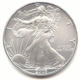 Uncirculated Silver Eagle 2003