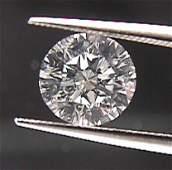 GIA CERT. 0.73 CTW ROUND DIAMOND E/VS2