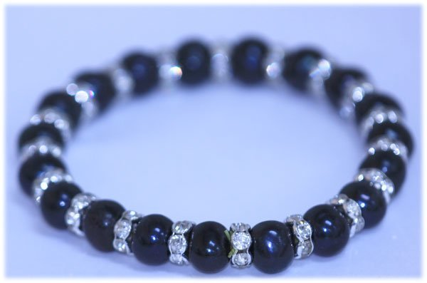93.05 CTW BLACK PEARL AND CZ BRACELET