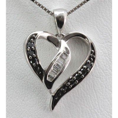 Genuine 0.12 ctw Round Diamond Heart Pendant 18k