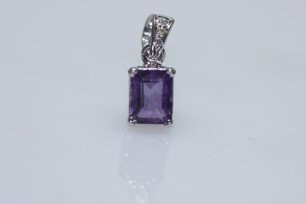7.00 CTW AMETHSY PENDANT .925 STERLING SILVER