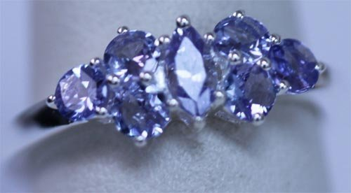 11.05 CTW TANZANITE RING .925 STERLING SILVER