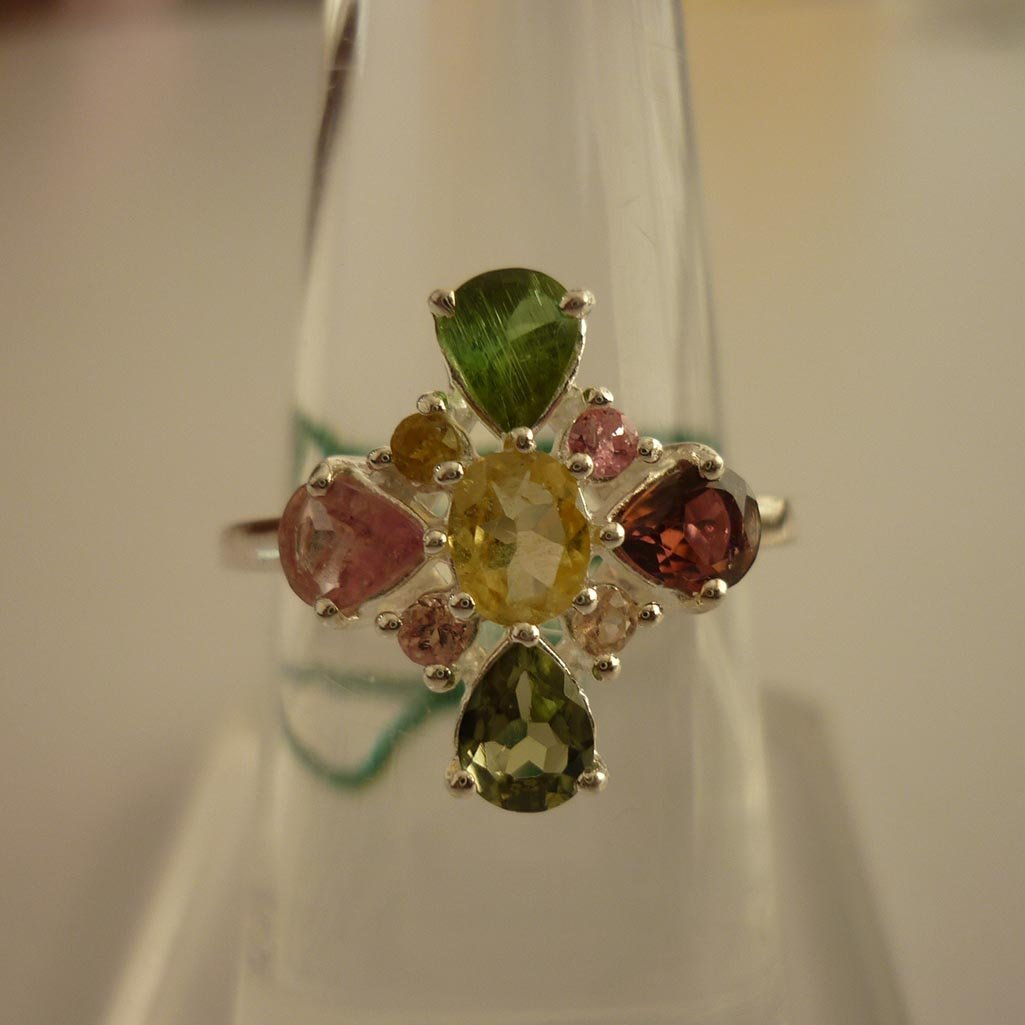 11.65ctw,SEMIPRECIOUS RING .925 STERLING SILVER