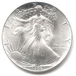 Uncirculated Silver Eagle 1986