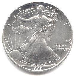 Uncirculated Silver Eagle 1992