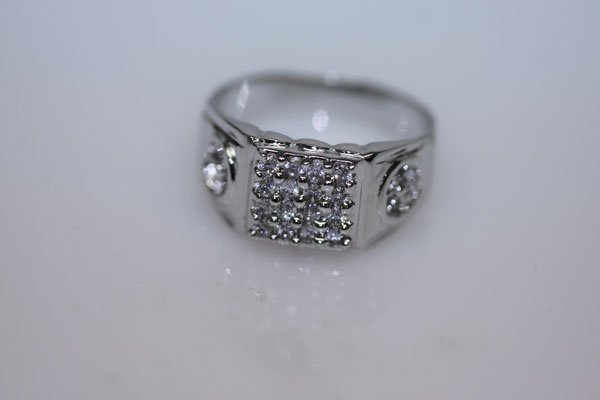 19.9 CTW CZ RING .925 STERLING SILVER