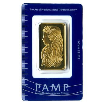 196924657: Gold Bars: Pamp Suisse One Ounce Gold Bar