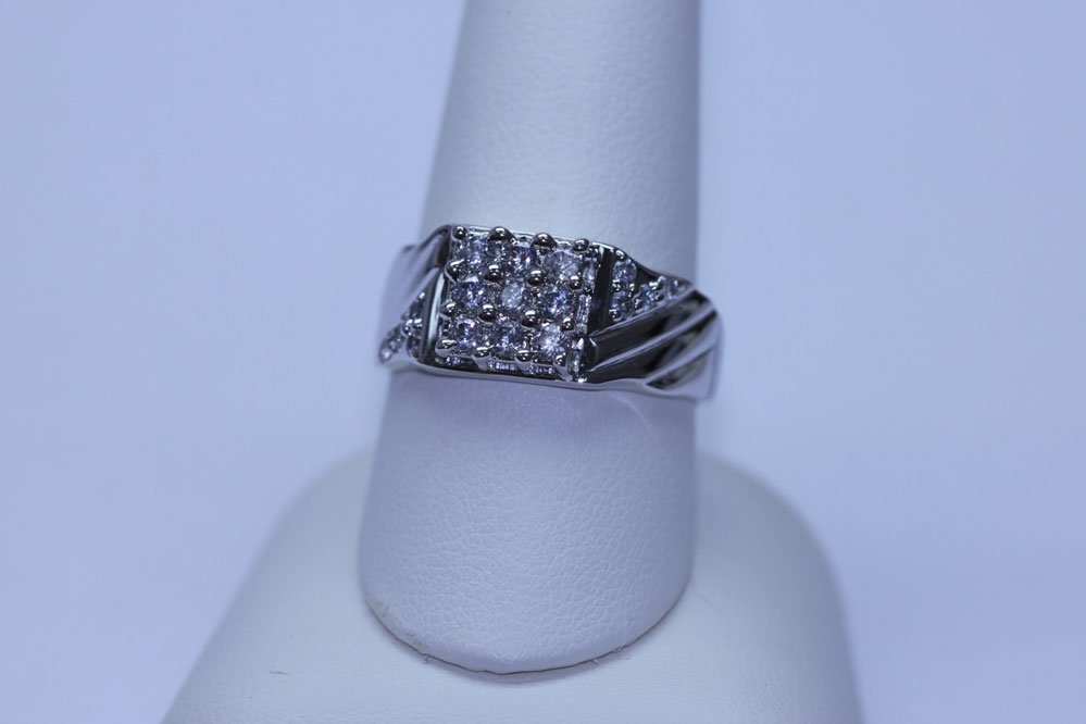 210727346: 26.55 CTW CZ RING .925 STERLING SILVER