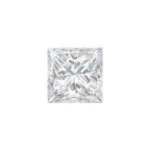 EGL CERT 1.26 CTW PRINCESS CUT DIAMOND F/VVS1