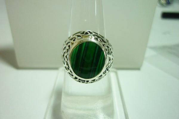26.00 CTW MOP ring .925 STERLING SILVER