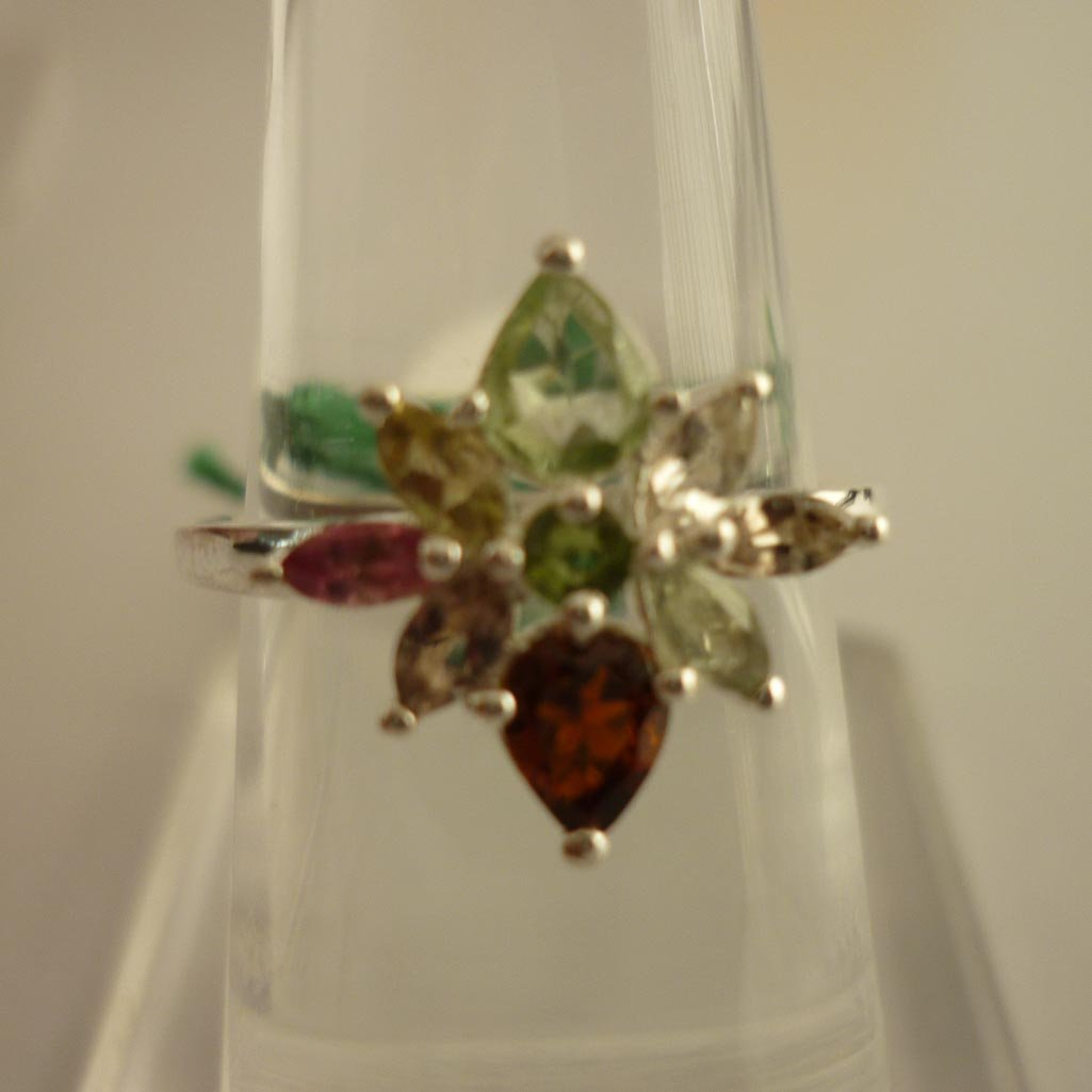 24.40ctw,SEMIPRECIOUS RING .925 STERLING SILVER