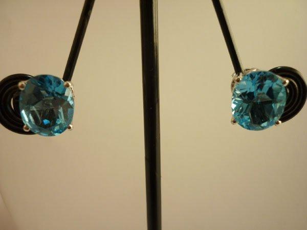 19.50 CTW BLUE TOPAZ EARRING .925 STERLING SILVER