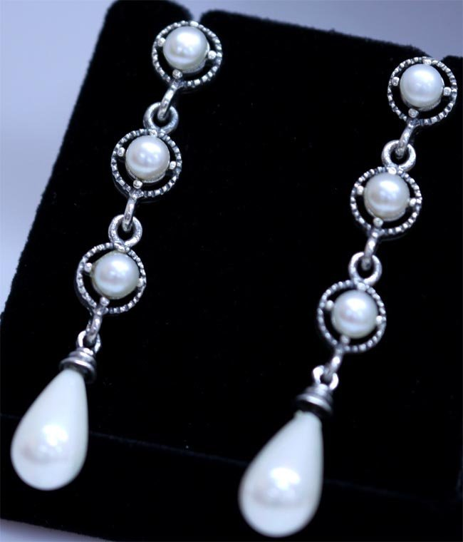 44.05 CTW PEARL ANTIQUE LOOKING JEWELRY .925 STERLING