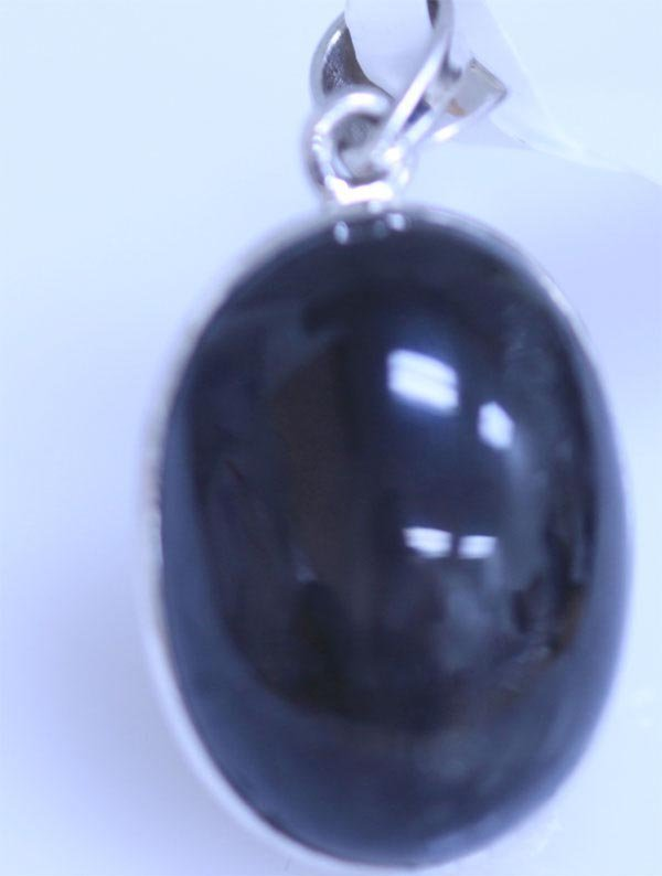 30.50 CTW BLACK STAR PENDANT .925 STERLING SILVER