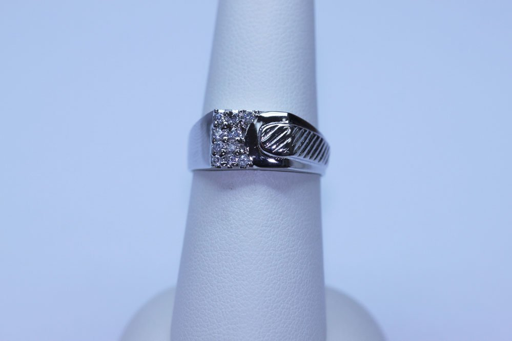 16.50 CTW CZ RING .925 STERLING SILVER