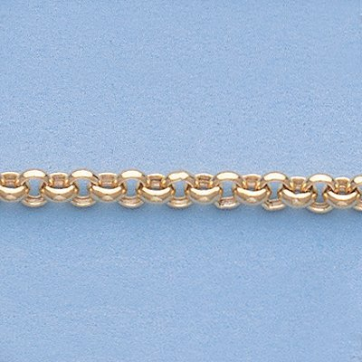 """Genuine 16"""" 14k Gold-Yellow 3.3mm Rolo Chain 5.5g - 2"""