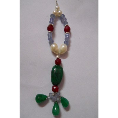 Natural 65.60ct Pearl,Tanzanite,Ruby,Emerald Pendant .9