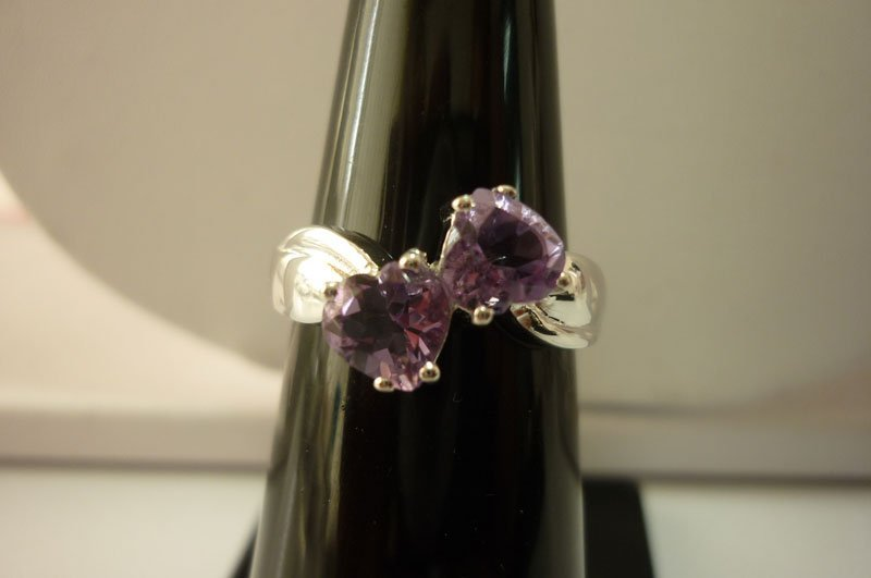 10.30 ctw Amethyst Ring .925 Sterling Silver