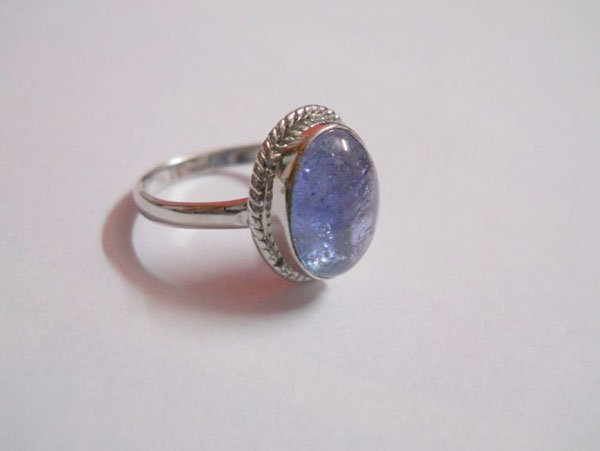 20.20 CTW TANZANITE RING .925 STERLING SILVER