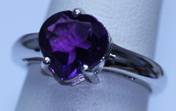 18.15 CTW AMETHYST RING .925 STERLING SILVER
