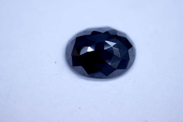 4.67 CTW BLACK DIAMOND OVAL LOOSE STONE