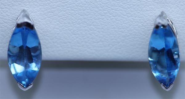 18.50 CTW BLUE TOPAZ EARRING .925 STERLING SILVER