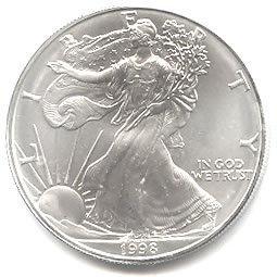 Uncirculated Silver Eagle 1998
