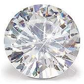 GIA CERT. 0.54 CTW ROUND DIAMOND D/VVS1