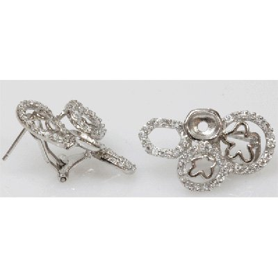 Natural 6.27g CZ Earrings .925 Sterling Silver