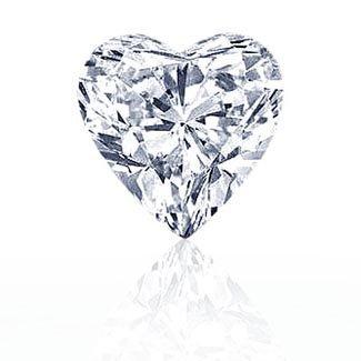 EGL CERT. HEART DIAMOND 1.04 CTW H/SI2