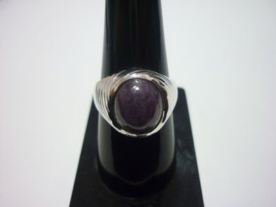 NATURAL 49.00 CTW RUBY RING .925 STERLING SILVER