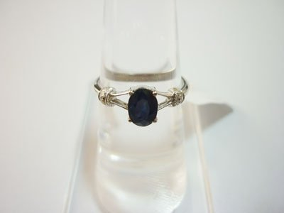 NATURAL 9.50 CTW SAPPHIRE AND DIAMOND RING .925 STERLIN