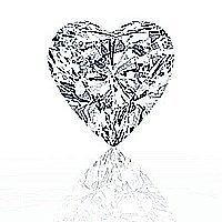 EGL CERT 0.7 CTW HEART DIAMOND D/SI2
