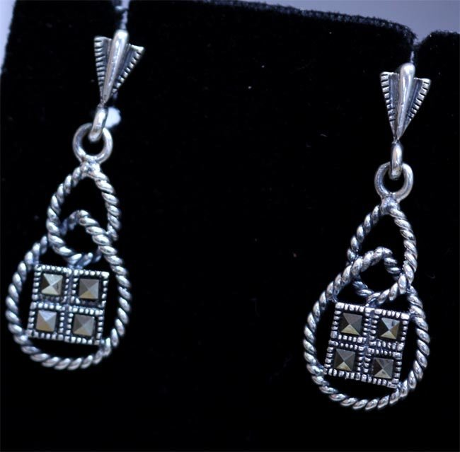 24.20 CTW ANTIQUE LOOKING JEWELRY .925 STERLING SILVER