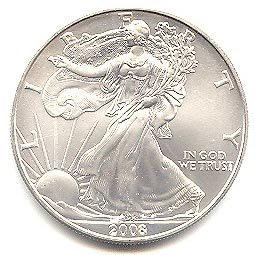Uncirculated Silver Eagle 2008
