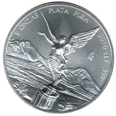 Mexican Silver Libertad 5 Ounce 2010