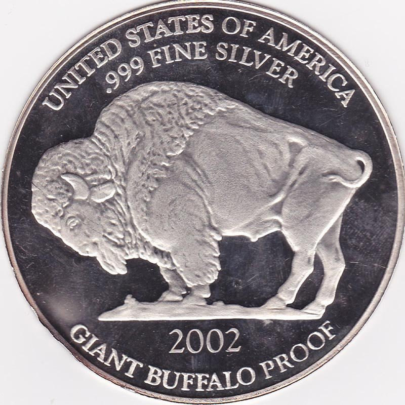 Silver Bullion 1 oz Giant Buffalo Round
