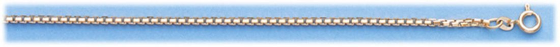 "GENUINE 16\"" 14K ITALIAN GOLD 8-SIDED BOX CHAIN 11.2 g"""