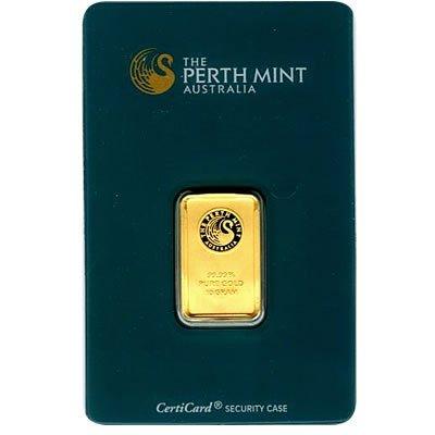 Gold Bars: Perth Mint 10 Gram Gold Bar