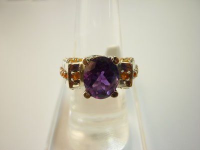 NATURAL 36.50 CTW SEMI PRECIOUS RING .925 STERLING SILV