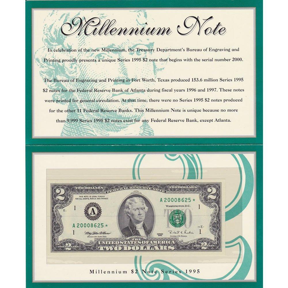 1995 $2 Star Millenium Note, Boston, Mass.