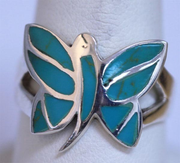 24.40 CTW TURQOUISE RING .925 STERLING SILVER
