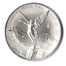 Mexican Silver Libertad 2 Ounce 2000