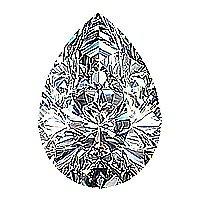 EGL CERT 1.06 CTW PEAR DIAMOND D/SI2