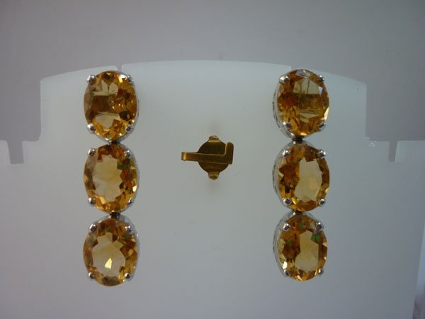 38.25 CTW CITRINE EARRING .925 STERLING SILVER