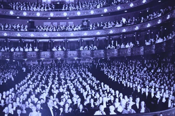 Opera audience in New York City copy of photograph