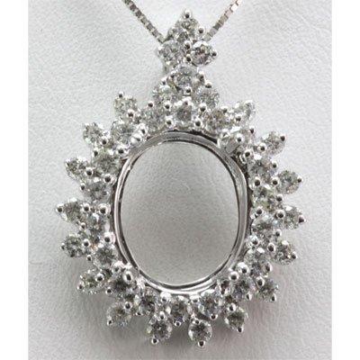 Genuine 1.42 ctw Round Cut Diamond Pendant 18k